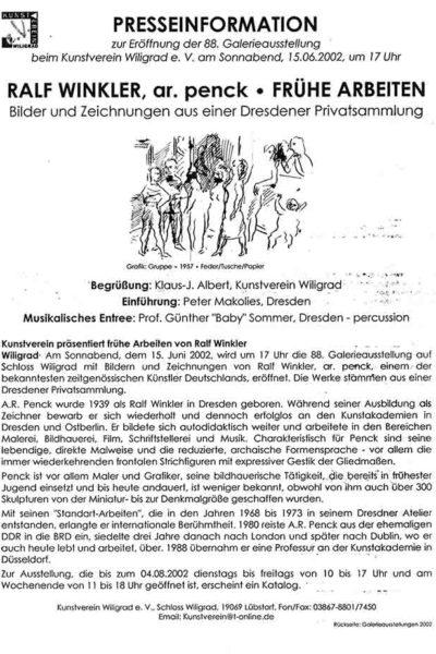 A.R. Penck - Gruppe - Begleittext