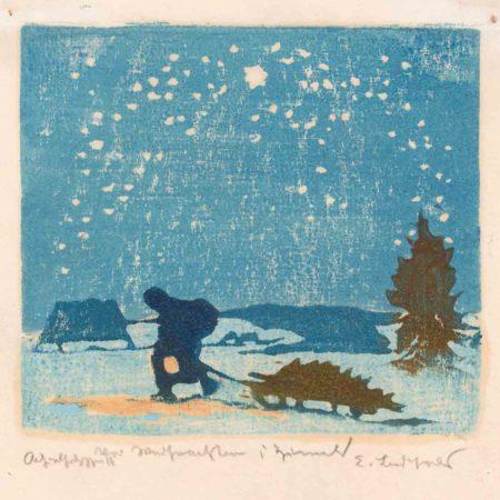 Erich Buchwald-Zinnwald - Vor Weihnachten in Zinnwald