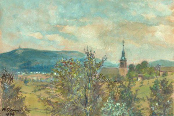 Martin Clemens - Blick zur Schellerhauer Kirche