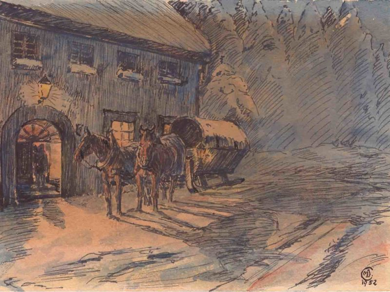 Martin Clemens - Pferdeschlitten