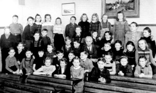 Martin Clemens und Kl. 6a 1950