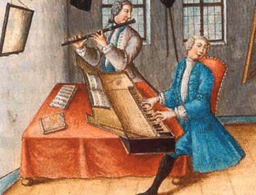 Traversflöte und Clavichord